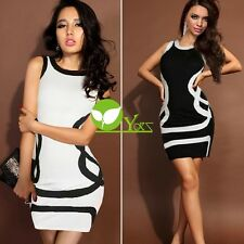 Women Sleeveless Bodycon Party Pencil Tunic Dress Sexy Bandage Bag Hip Dre dint