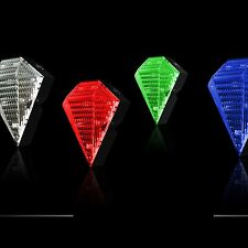 Bicycle 8 LED 2 Laser Beam Tail Light Safety Rear Warning Lamp 4 Colors S9