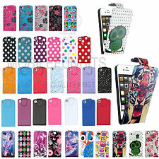Leather Flip Case Cover Wallet For Apple iPhone 4 4S + Free Screen Protector