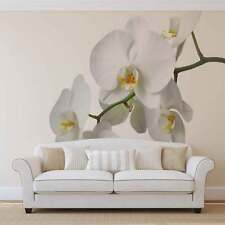 White Orchid Photo Wallpaper Wall Mural (CN-737VE)