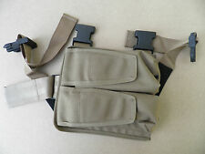 Drop-leg, leg mount, twin magazine pouch. Mixed colours, new.