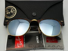 Ray Ban RB 3016 114530 CLUBMASTER Sand Havana Gold + Silver Mirror - Choose Size