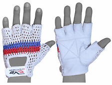 EVO Fitness Cow Hide Leather Woven Gym gloves  Weightlifting,Cycling Glove Fitne