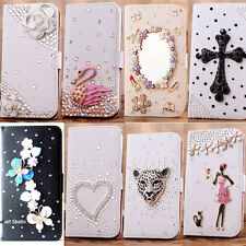 bling rhinestone wallet Fold stand leather card holder case pouch for Samsung