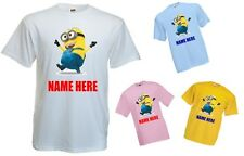 PERSONALISED CHILDRENS KIDS T-SHIRT - DESPICABLE ME MINION #1