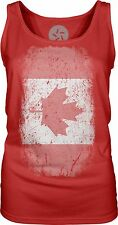 Canadian Flag (White) Womens Singlet Tank-Top T-Shirt