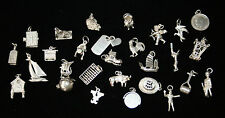 RARE AND UNUSUAL VINTAGE STERLING SILVER CHARMS