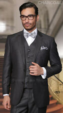 3 PIECE SHINY MENS SUIT GROOMS WEDDING ATTIRE FORMAL PROM DANCE PARTY 100% WOOL