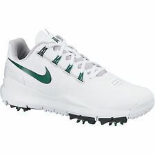 New Nike TW '14 Tiger Woods Limited Edition Masters White/Green Golf Shoes