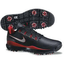 New Nike TW '14 Tiger Woods Men's Golf Shoes Black/Grey/Red - Pick Size
