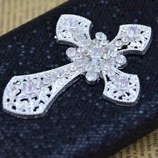 Bling Diamond Cross PU Leather Glitter Case Cover For Samsung Galaxy S5 S4 Note