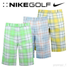 NEW - $70 - NIKE GOLF TECH PLAID MENS SHORTS - DRI FIT - 28 30 32 34 36 38 40 42