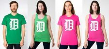 detroit tigers old english D (white logo, distressed)  - 100% cotton