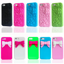 3D Sculpture Soft TPU Silicone Rubber Case Cover Skin For Apple iPhone 5 5S 4 4S