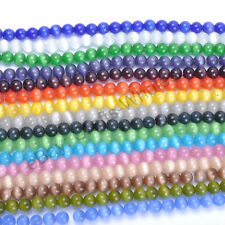 16 Color-1 Or Mixed Cat Eye Gemstone Round Loose Beads 4MM 6MM 8MM 10MM 12MM