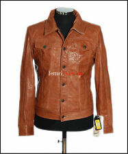Craig Tan Men's Smart Casual Real Lambskin Soft Leather Shirt Style Jacket