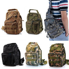 Outdoor Hiking Travel Military Tactical Molle Shoulder Chest Sling Pouch Bag