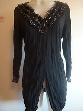 womens clothing size 10,12, 14, 16 top ladies top tunic jacket long sleeve New