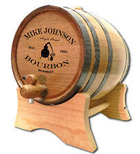 Personalized Bourbon Still Whiskey Barrel Stand Size Choice