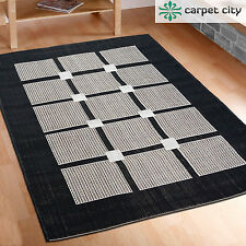 Rug Flat Fabric Square Grey Black Top Offer Various Sizes In - & Outdoor