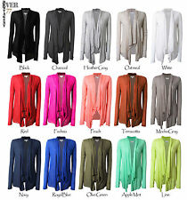 Ever77 Women's Long Sleeve Thin Shawl Collar Draped Open Front Cardigan/TC1001