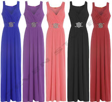 WEDDING BRIDESMAID FORMAL GOWN PARTY COCKTAIL EVENING PROM BUCKLE MAXI DRESS