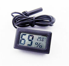 New Digital LCD Thermometer Hygrometer 1.5m Probe for Aquarium Poultry Incubator