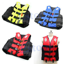 Adult Polyester Swimming Foam Life Jacket L XL Vest Whistle Foam Fully Enclosed