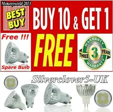 10 X 9/12/15W LED Bulbs Spot Lights GU10 MR16 Day Warm White Lamps High Power UK