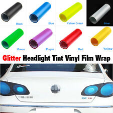 Glitter Fog Tail Head Light Tint Vinyl Film Wrap Car Window Sheet Stick Air Free