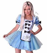 Alice In Wonderland Fancy Dress Costume Sexy Hen / Tea Party Outfit Mad Hatter