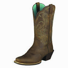 Ariat Legend Distressed Brown Womens Square Toe Western Boot 10001053