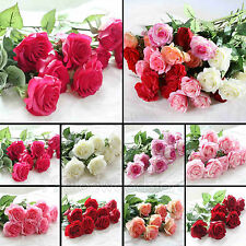 10 Head Real Latex Touch Rose Flowers For wedding And Home Design Bouquet Decor