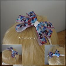 'FROZEN' Satin covered Alice band with Elsa & Ana themed Bow- 3 styles. FBB