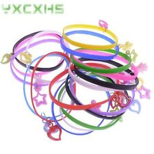 20/100pcs Mixed Colours Rubber Wristband Bracelet With Small Pendant For Child
