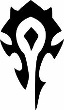 """Game Decal- World of Warcraft Horde Decal 4""""x6"""" Exterior Window Sticker"""