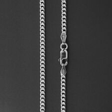 ITALY 925 Sterling Silver ROUND CURB Chain Necklace-CONCAVE Curb Chain-2.8 mm