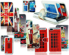 2 IN 1 SOUVENIR LONDON UNION JACK LEATHER CASE FOR SAMSUNG APPLE I PHONE MODELS