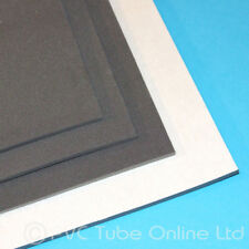 4mm Foam Sheet Sponge Rubber - Adhesive Backed Closed Cell - Charcoal Grey Black