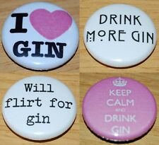 GIN Button Badge 25mm / 1 inch ALCOHOL DRUNK HEN PARTY