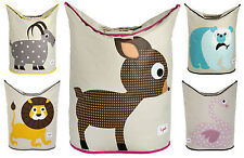 3 Sprouts Laundry Hamper Kids Bedroom Organizer - Optional Animals