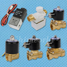 "1/2"" 1/4"" 1/8"" Electric Solenoid Valve Water Air 12V 24V NEW"