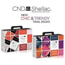 CND Shellac Power Polish - Chic + Trendy Trial Packs - Choose From Any