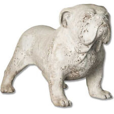 Bulldog Outdoor Garden Statue by Orlandi Statuary - Faux Concrete-FS8490