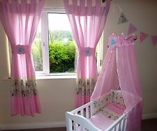 children design  tab top  Curtains with tiebacks 100% cotton made to order