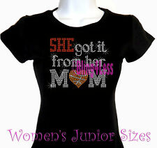 She Got It - BASKETBALL - Rhinestone Iron on T-Shirt - From Her Mom Sports Top