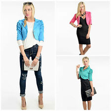 The Crop Blazer with Puff  Ruched Sleeves
