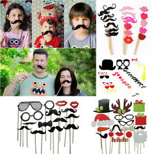 DIY Masks Photo Booth Props Moustache Lips Hat On A Stick Party Birthday Wedding