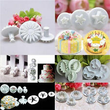 Washable New Mold Cutters Tool for Sugar/Petal Paste Cooking Cake Icing Plunger