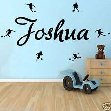 Soccer,  Personalised Name, Transfer, wall sticker, Kids Bedroom 3 sizes